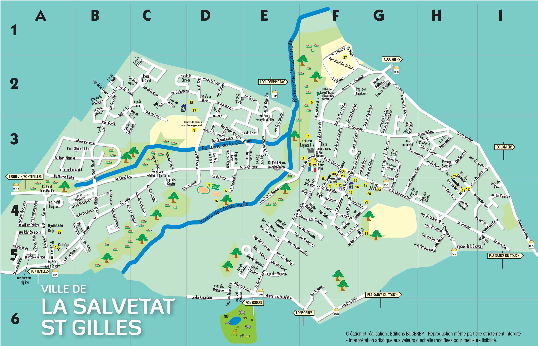 Plan de La Salvetat Saint-Gilles