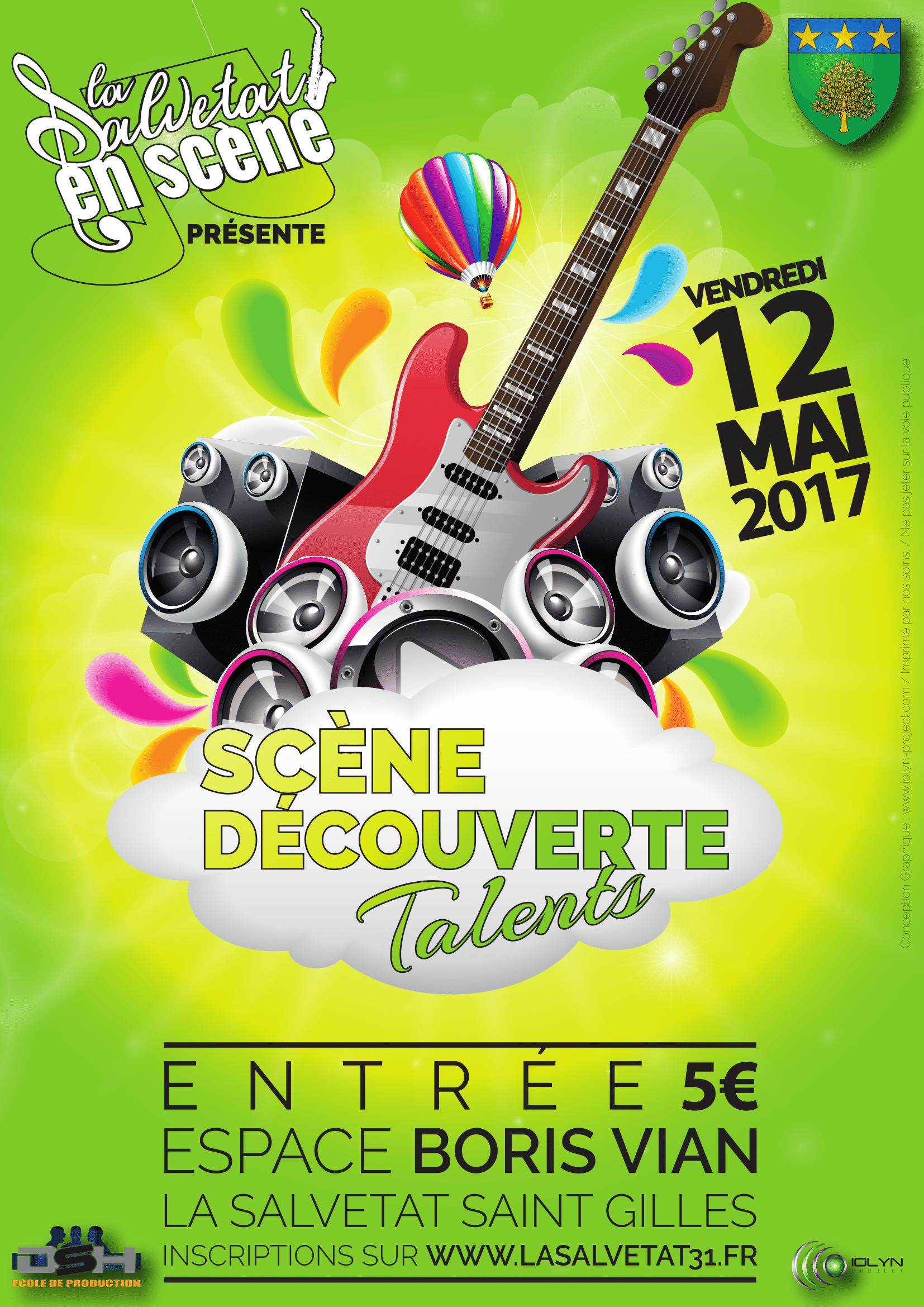 Scène Découverte de Talents : le 12 Mai 2017