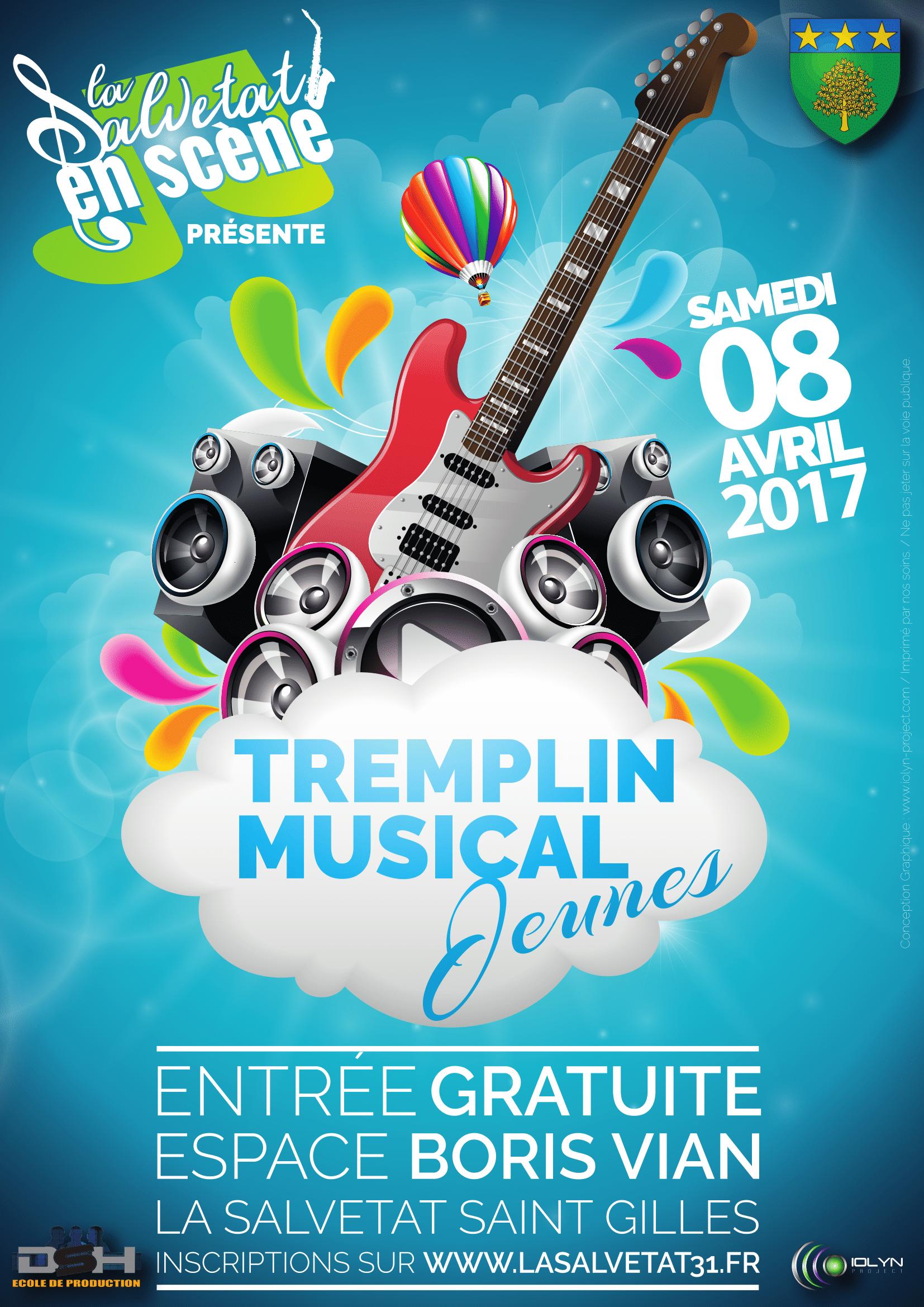 Tremplin Musical Jeunes : le 8 Avril 2017