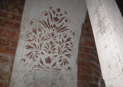 Détail décors 1er étage galerie sud