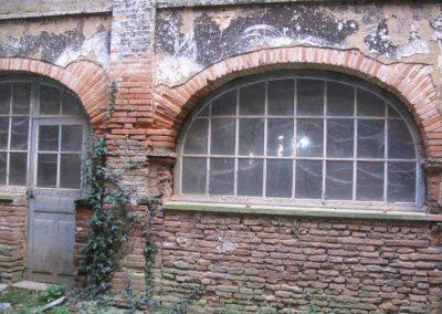Galerie sud (RDC) depuis cour intérieure