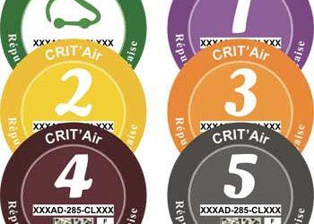 Certificats qualité de l'air : Crit'Air
