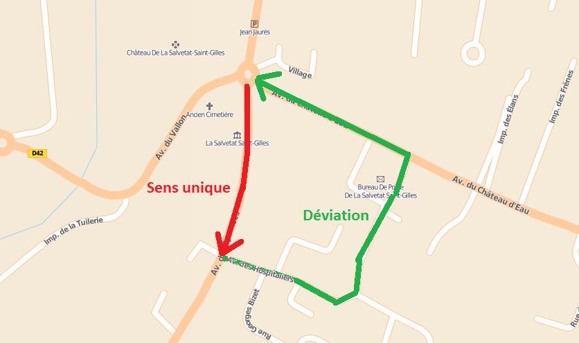 Déviation – Avenue des Pyrénées
