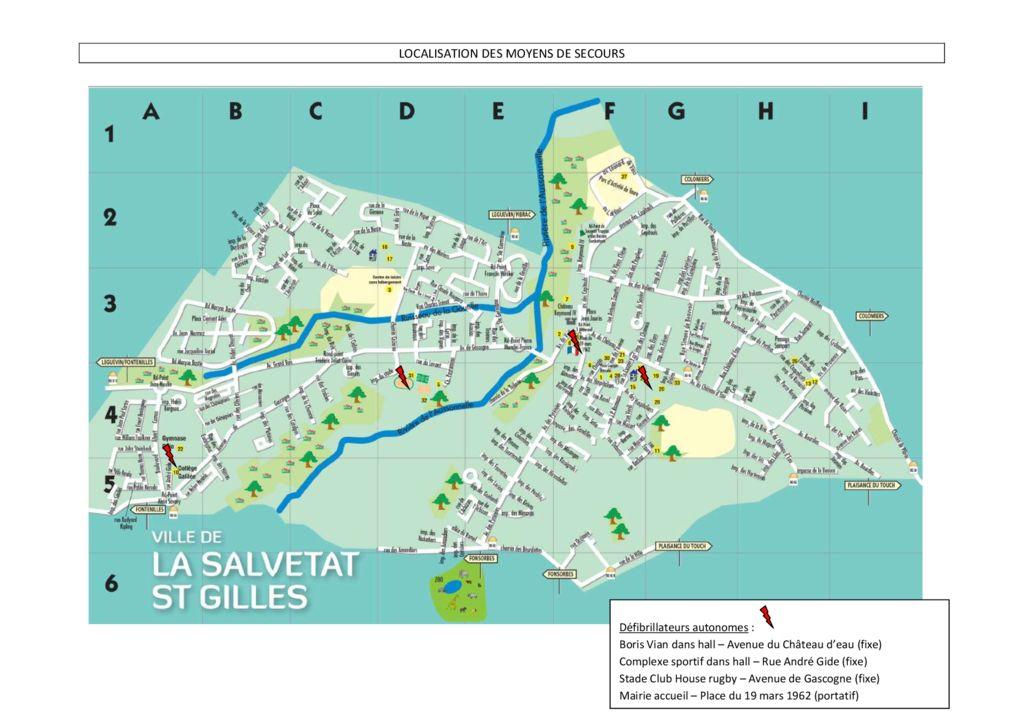 thumbnail of plan de localisation des defibrillateurs