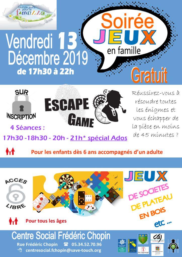 thumbnail of Soirée jeux ESCAPE GAME