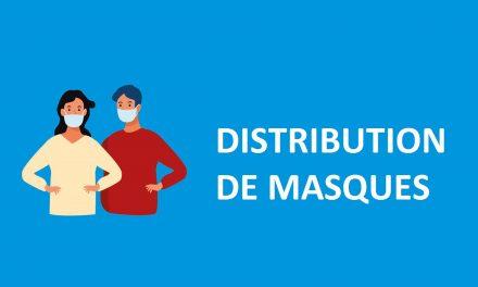 DISTRIBUTION DE MASQUES LAVABLES TISSU  – Vendredi 29 Mai