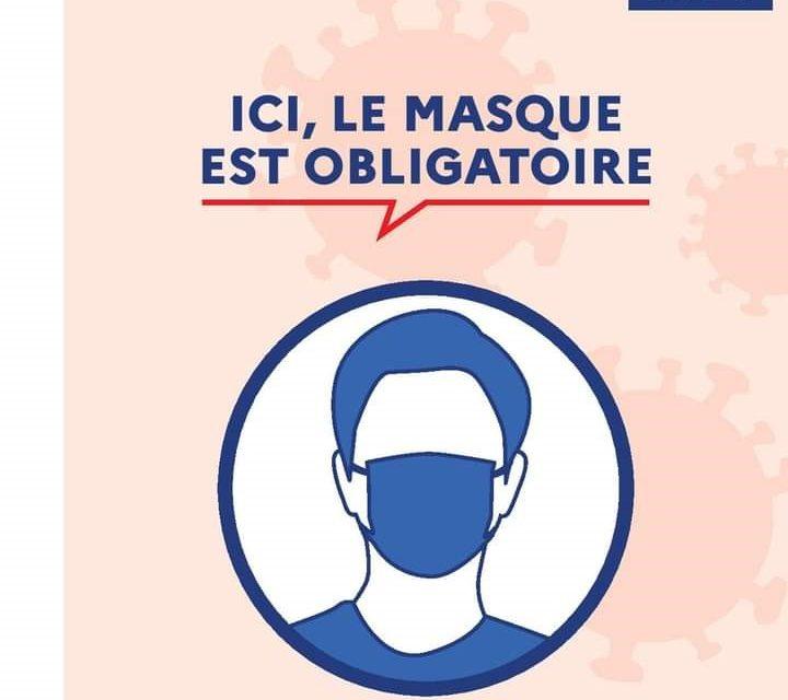 Port du masque obligatoire sur toute la commune