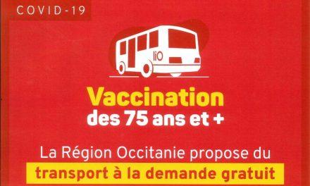 Vaccination COVID 19 – Transport gratuit pour les + de 75 ans